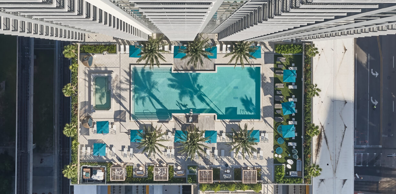 Miami - Birds Eye Resort Pool xPurpleCatCo PreProduced